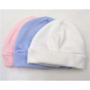 Hat Cotton Beanie - Pink, Blue or White